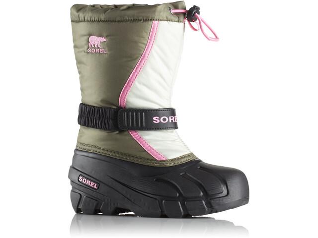 Sorel Youth Flurry Boots Hiker Green/Bubblegum